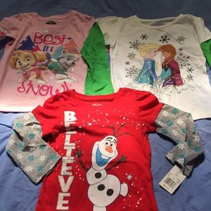 NWT Character bundle of long sleeve T-s, 5t